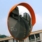 Сферическое уличное зеркало 600мм с козырьком