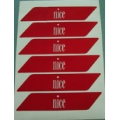 Наклейки стветоотражающие на стрелу шлагбаума Nice